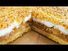 Szarlotka. Najlepsza na świecie. Przepis teściowej. Pyszne ciasto. Ciasto z jabłkami - YouTube Biscotti, Cheesecake, Fruit Cakes, Youtube, Food, Cream, Apple Tea Cake, Cheesecakes, Essen