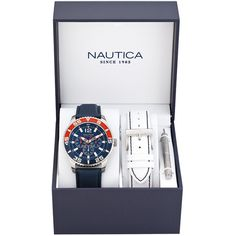 Nautica - Ceas Nautica A14669G - Albastru Watch Box, Color Azul, Navy Tops, Rolex Watches, Fashion Jewelry, Quartz, Bling, Jewels, Best Deals