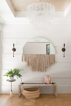 Love the fringe mirror / follow shophesby for more inspiration