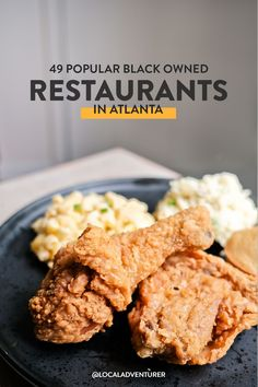 Looking for more ways to support the black community? Here are 49 best black owned restaurants in Atlanta GA // Local Adventurer #atlanta #discoveratl #blacklivesmatter #georgia #exploregeorgia #localadventurer Atlanta Eats, Visit Atlanta, Food Places, Best Places To Eat, Georgia Usa, Atlanta Georgia, Beautiful Places In America, South Usa, American National Parks