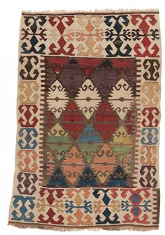 Konya Kilim 139 x 93 cm (4ft. 7in. x 3ft. 1in.) Turkey Mid 19th century