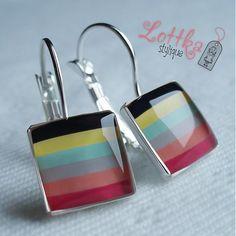 Lottka-stylique / La Danse Flask, Earrings, Handmade, Jewelry, Dance, Ear Rings, Hand Made, Jewlery, Jewels
