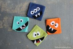Come on over and make these adorable monster face cloths!