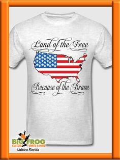 Home of the Free Because of the Brave Olive Drab 100/% Cotton Marine T Shirt