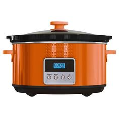 BELLA 13992 Dots Collection Programmable Slow Cooker, 5-Quart, Orange