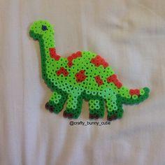 Dino perler beads by crafty_bunny_cutie