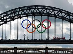 The Olympic Rings have are now occupying the Tyne Bridge, and on Friday 15th the torch will be joining