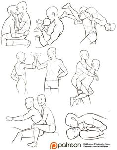 Interacting Characters reference sheet pose ref fma: