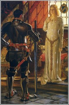 "J.C. Leyendecker 1906. Ridolfo and Gismonda illustration from Egerton R Williams book ""Ridolfo The Coming of the Dawn""."