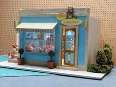 Puppenstuben & -häuser Doll House OOAK Handmade Christmas Miniature Toy Store Dollhouse