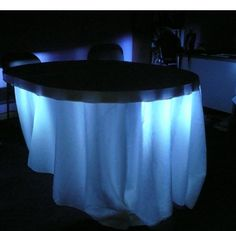 UNDER TABLE LIGHTING---this would be nice maybe under wedding cake and grooms cake or maybe on table as you walk in and sign book??  can do clear or blue ....any color