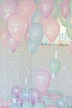 Pastel balloons for girls birthday party