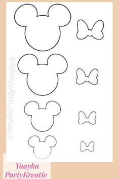 Mouse Crafts, Felt Crafts, Disney Diy, Disney Crafts, Decoration Minnie, Theme Mickey, Bow Template, Templates, Mickey Minnie Mouse