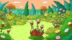 Green grass field and trees illustration HD wallpaper