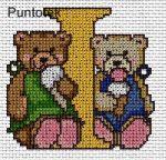 Abecedarios de OSOS en punto de cruz en www.nacaranta.com
