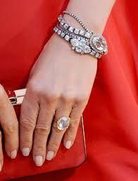 Engagement ring, bracelet and watch. Diamond set.