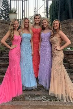 Sheath Spaghetti Straps Lace-Up Sweep Train Light Blue Prom Dress with – shinydress Lilac Prom Dresses, Lace Evening Dresses, Trendy Dresses, Evening Gowns, Wedding Dresses, Evening Party, Party Dresses, Formal Dresses, Dress Prom