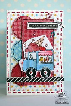 Card Designed by Renee Aslette - Design Team Member for Unity Stamp Co. using the June Kit of the Month