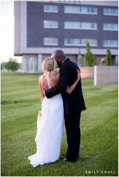Bride & groom at sunset