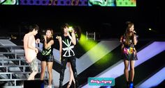 "[120922] Super Junior featuring f(x) performing ""Oops!!!"" on SM Town Jakarta #SuperJunior #Eunhyuk #Fx #Victoria #Amber #Luna #Krystal"