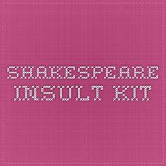 Shakespeare Insult Kit