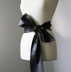 Soft Leather Belt (Black) by Veronica Vartic