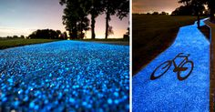 Poland Unveils Glow-In-The-Dark Bicycle Path That Is Charged By The Sun | Bored Panda
