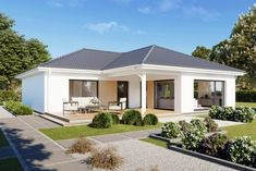Bungalows, Style At Home, Modern House Plans, House In The Woods, Home Fashion, Shed, Villa, Cottage, Construction