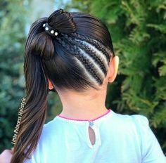 Peinados Work Hairstyles, Cute Girls Hairstyles, Quick Hairstyles, Braided Hairstyles, Toddler Hair, Girls Party Dress, Teen Fashion, Hair Bows, Braids