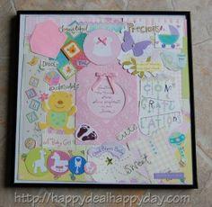 Wedding or Baby Shower Card Collage Keepsake