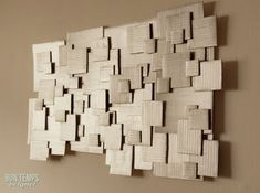 Recycled #DIY cardboard scraps into some really awesome modern art wall sculptures. This is such an awesome idea, just think of all the random bits of cardboard we often have laying around!