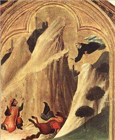 Simone Martini, Blessed Agostino Novello Altarpiece (detail), 1324, tempera on wood (Pinacoteca Nazionale, Siena)