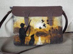 Купить Сумка валяная Охотник - валяная сумка, сумка валяная, валяная, сумка, подарок, охотник