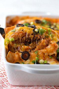 Easy Red Enchiladas | lifemadesimplebakes.com
