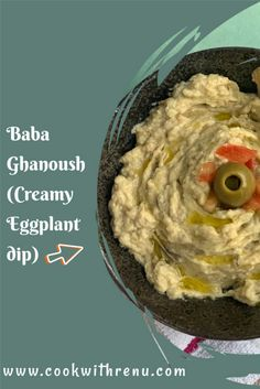 Baba Ghanoush or baba ganoush or baba ghanouj is a smoky addictive eggplant dip made with mashed and cooked eggplant, tahini, lemon juice, olive oil, and salt. It is dangerously addictive and goes well with chips, flatbreads, or as a spread on your sandwiches and wraps. Healthy Appetizers, Appetizers For Party, Appetizer Recipes, Snack Recipes, Snacks, Dairy Free Recipes, Vegetarian Recipes, Around The World Food, Baba Ganoush