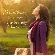 Calm anxiety with this simple and natural breathing trick that melts away stress and promotes a sense of peace. It can be done anywhere at any time!