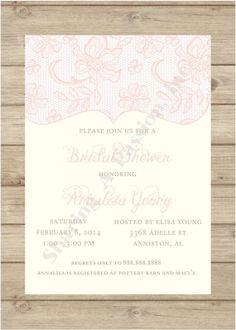 Bridal Shower Invitation - Elegant Bridal Shower Invitation - Bridal Shower Invites