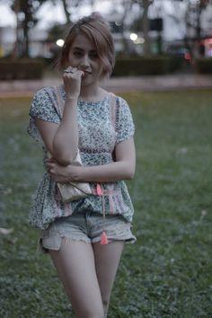 De vestido a blusa.- Bianca Juaarez
