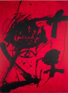 Artist: Antoni Tàpies,  title: Fondation Tàpies,  technology: Color lithograph