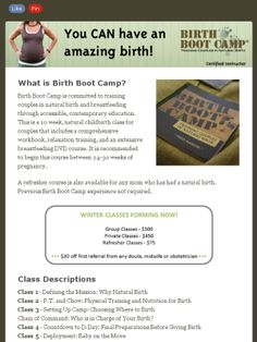 Birth Boot Camp Anno