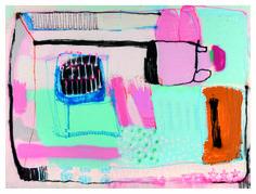 """Marco Pariani """"323 (middle bed)"""", 2015, Tecnica mista su tela, 150 x 200 cm, Foto di Mauro Ranzani.  Mostra WELOVESLEEP, Galleria Santa Radegonda, fermata Duomo della metropolitana di Milano, fino al 14 giugno 2015. INGRESSO GRATUITO #welovesleep"""