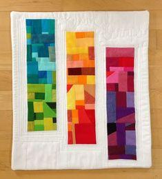 solid scraps quilt