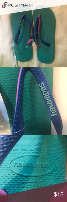 Havianas Top Mix Lake Green New with Tags.  Women's 9/10, men's 7/8. Havaianas Shoes Sandals