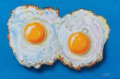 Oil Painting On Canvas, Watercolor Paintings, Original Paintings, Fried Eggs, 12 Image, Hyperrealism, Original Image, Design Inspiration, Fortune Teller