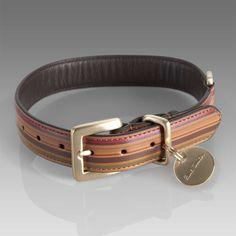 Paul Smith Vintage multi stripe dog collar (£55.00) #dog #collar #stripe #paul_smith