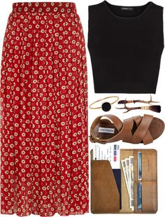 With a longer top... I love the idea of simple tanks and flowy skirts in the summer // dorothy perkins