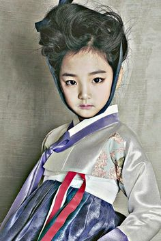 A girl in a hanbok