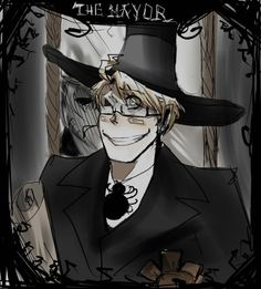 Alfred/America as the Mayor of Halloween town from Nightmare Before Christmas