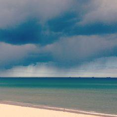 rainy sunny day