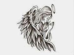 Angel tattoo designs with meanings - 38 ideas & templates-Engel Tattoo Designs mit Bedeutungen – 38 Ideen & Vorlagen bedding-angel-tattoo-template-design-for-shoulder-back - Engel Tattoos, Hd Tattoos, Feather Tattoos, Trendy Tattoos, Tattoo Drawings, Body Art Tattoos, Sleeve Tattoos, Tattoos For Guys, Cool Tattoos